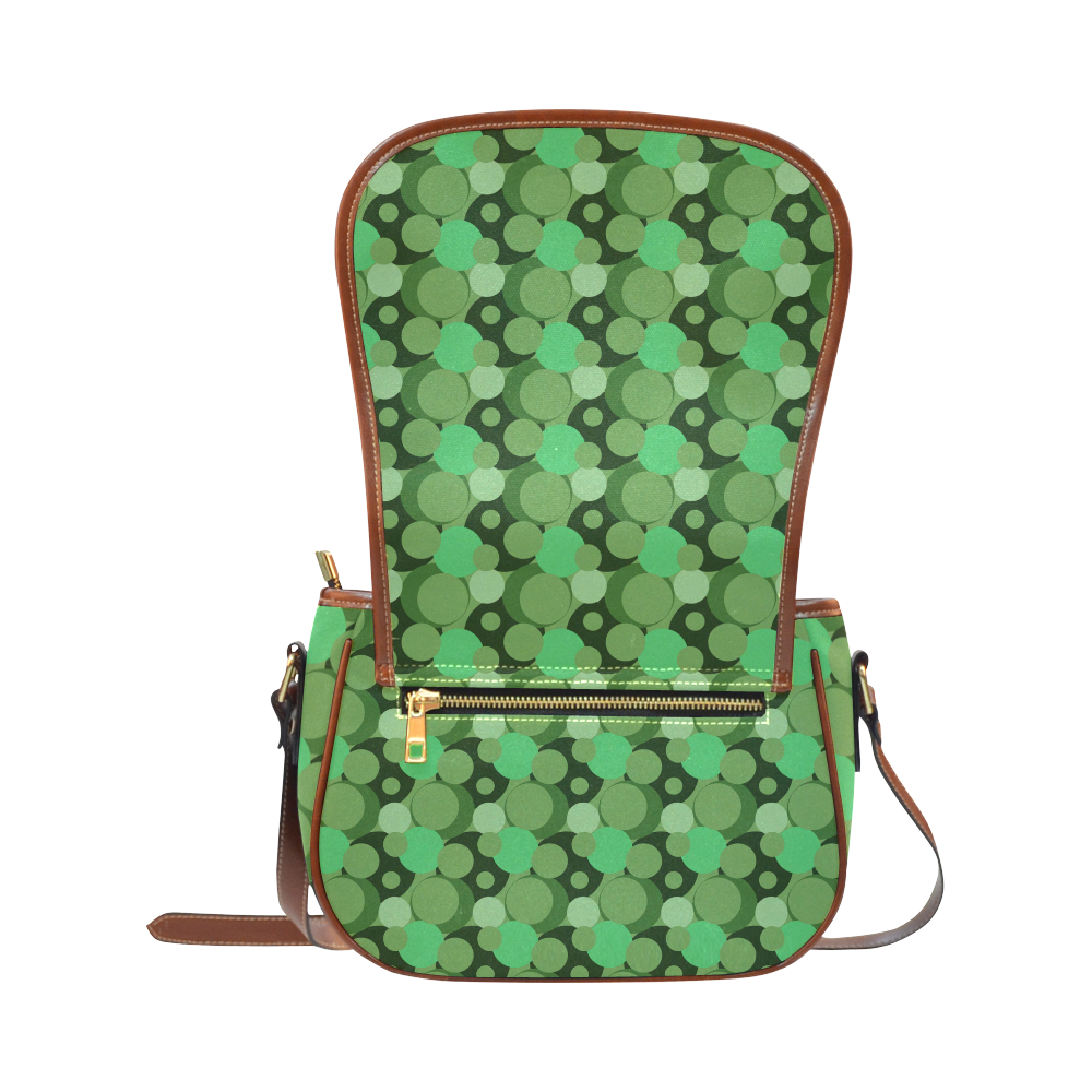 Green Bubble Pop Saddle Bag/Large (Model 1649)