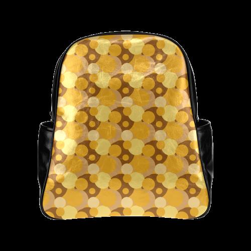 Orange Bubble Pop Multi-Pockets Backpack (Model 1636)