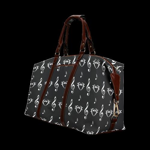 White on Black Musical Classic Travel Bag (Model 1643)