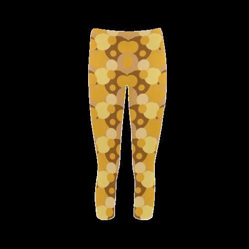 Orange Bubble Pop Capri Legging (Model L02)