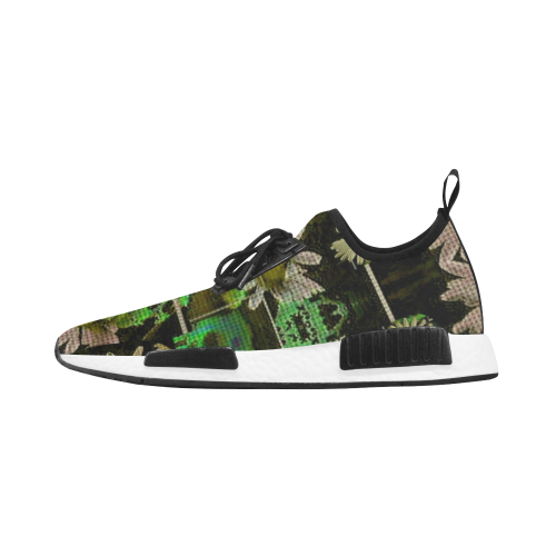 Skull in the fantasy forest popart Men's Draco Running Shoes (Model 025)