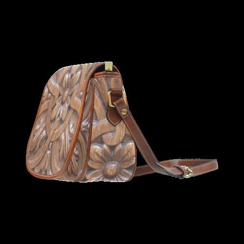 Flower Tile Saddle Bag/Large (Model 1649)