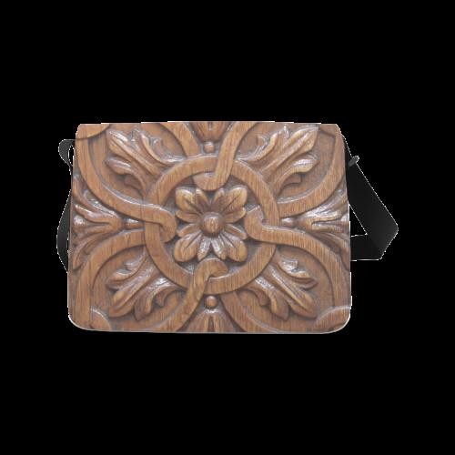Flower Tile Messenger Bag (Model 1628)