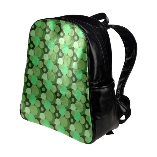 Green Bubble Pop Multi-Pockets Backpack (Model 1636)