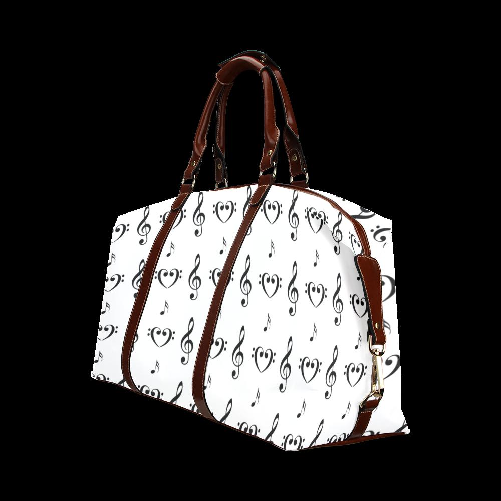 Black on White Musical Classic Travel Bag (Model 1643)