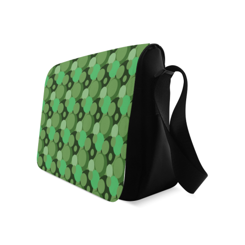 Green Bubble Pop Messenger Bag (Model 1628)