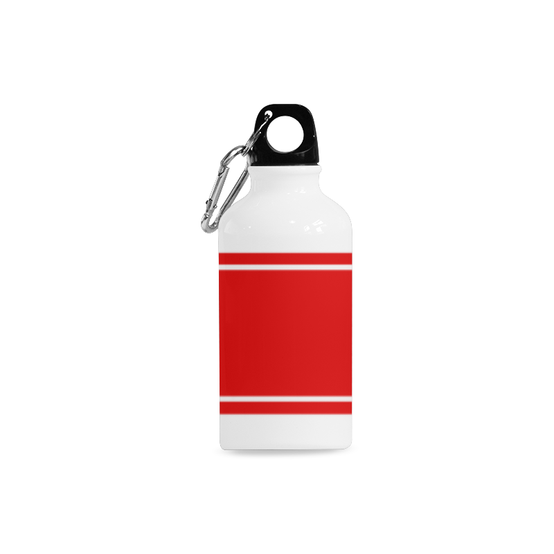 Red Ribbon Design Your Name Cazorla Sports Bottle(13.5OZ)