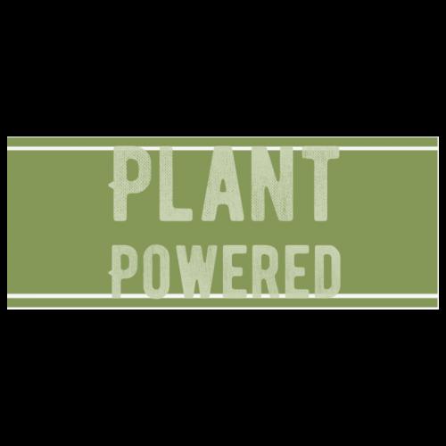 Plant Powered Vegan Vintage Grunge Think Green White Mug(11OZ)