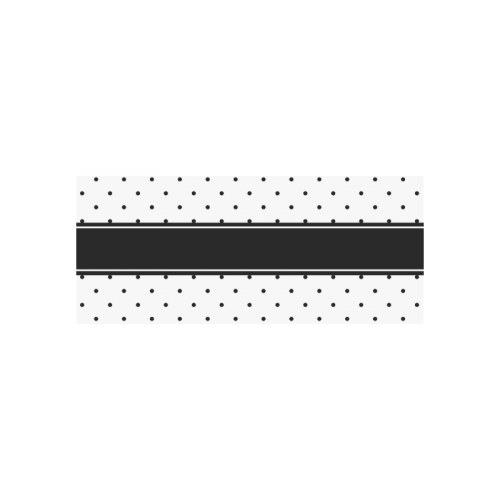 Black Dots White Ribbon your Name Cazorla Sports Bottle(13.5OZ)