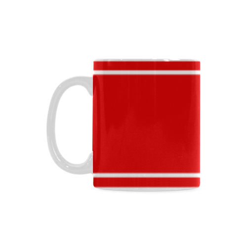 Red Ribbon Design Love Name White Mug(11OZ)