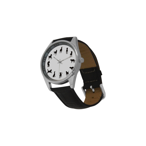 Conceptual Novelty Dog O'Clock Men's Casual Leather Strap Watch(Model 211)