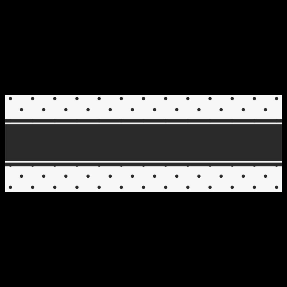 Black Dots White Ribbon your Name Classic Insulated Mug(10.3OZ)
