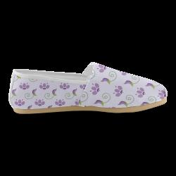 Purple Spirng Flowers Unisex Casual Shoes (Model 004)
