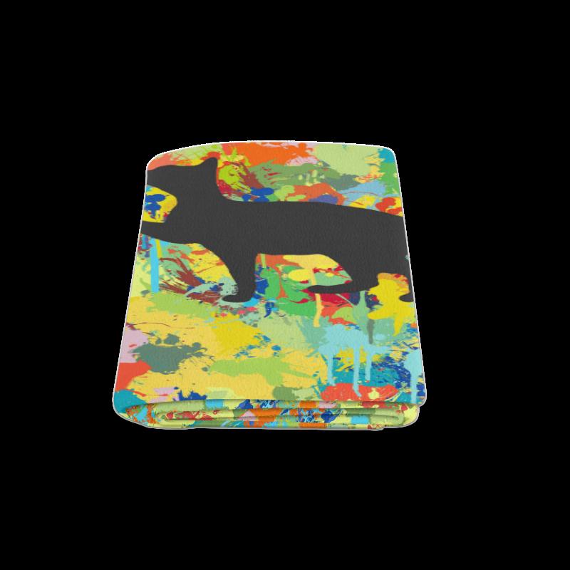 """Lovely Black Cat Colorful Splash Complet Blanket 58""""x80"""""""