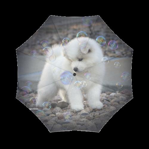Samoyed Bubbles Foldable Umbrella (Model U01)