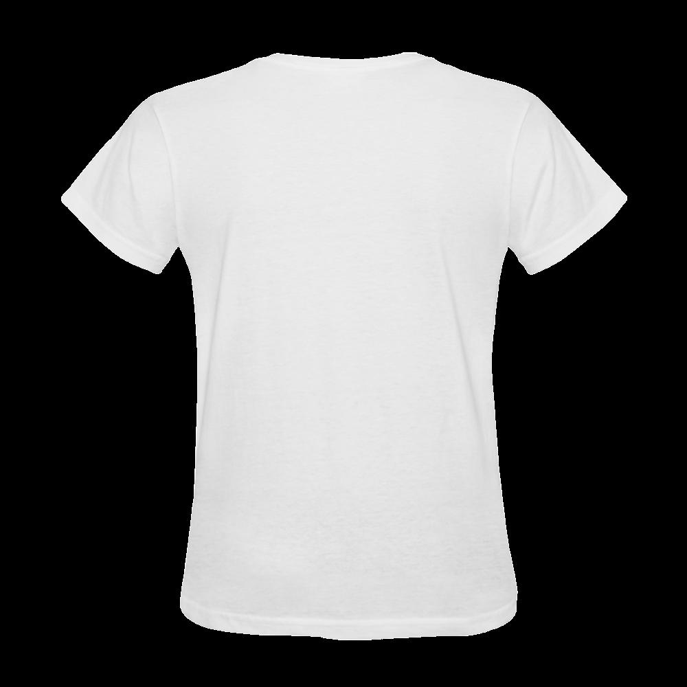 Shark Shape Template Blue Painting Sunny Women's T-shirt (Model T05)