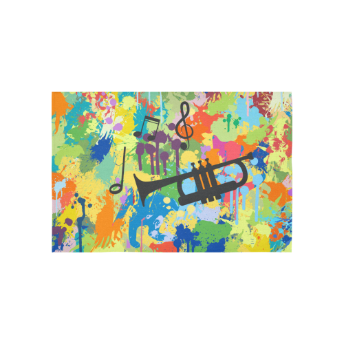 "Let´s Music Colorful Splash Cotton Linen Wall Tapestry 60""x 40"""