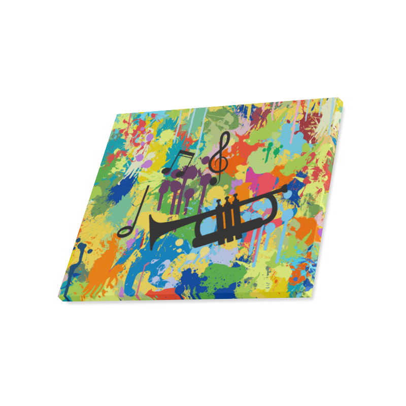 "Let´s Music Colorful Splash Canvas Print 20""x16"""