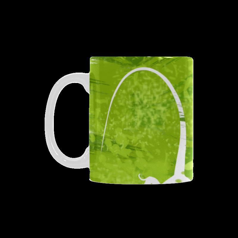 Green Lizard Shape Painting White Mug(11OZ)