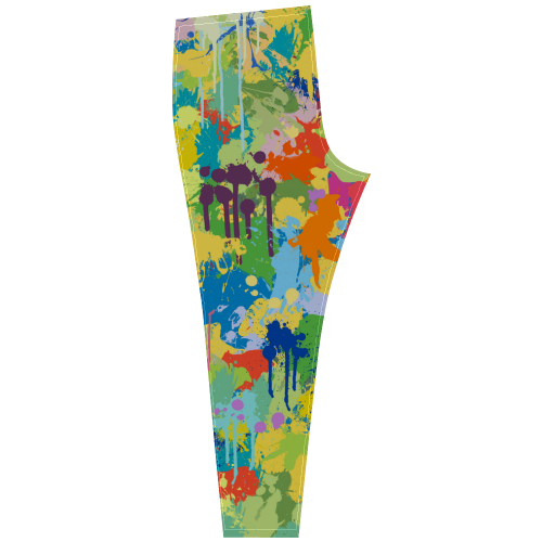 Colorful Splash Design Cassandra Women's Leggings (Model L01)