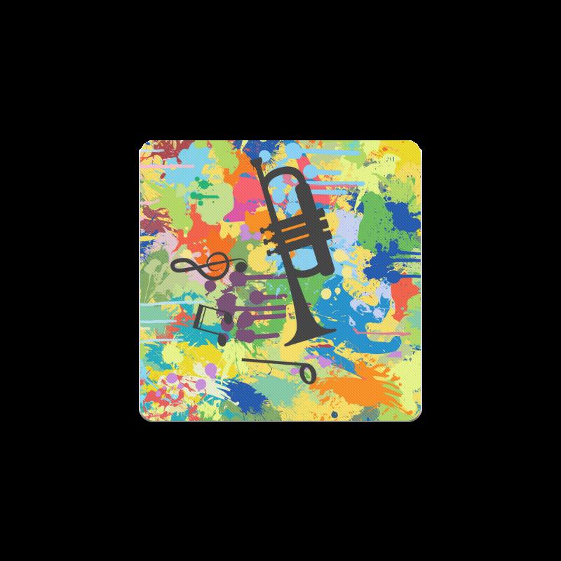 Let´s Music Colorful Splash Square Coaster