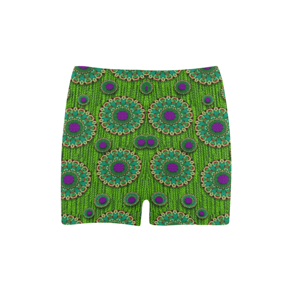 landscape and scenery in the peacock forest Briseis Skinny Shorts (Model L04)