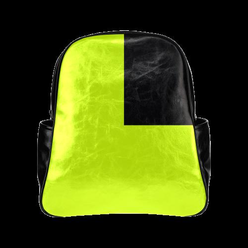 Retro in Green Neon Multi-Pockets Backpack (Model 1636)