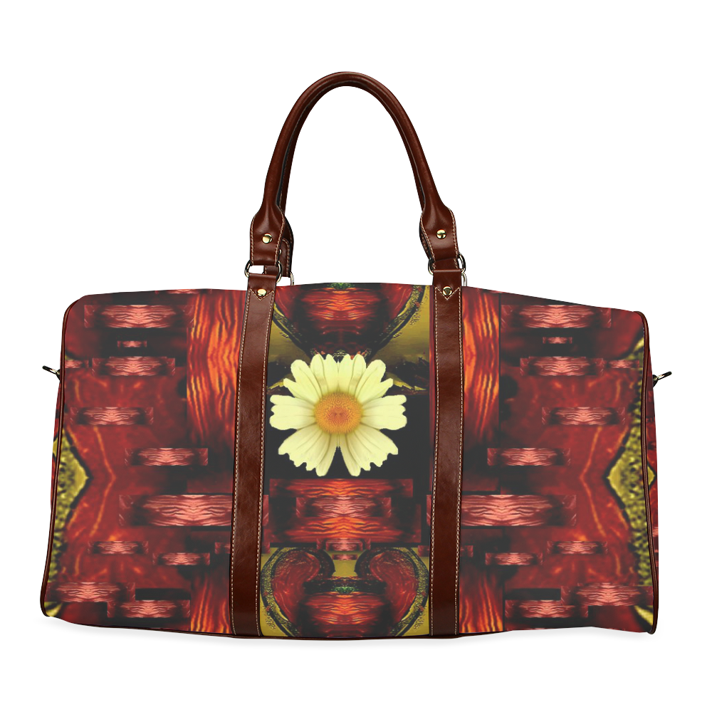Love and flowers in the colors of love popart Waterproof Travel Bag/Large (Model 1639)