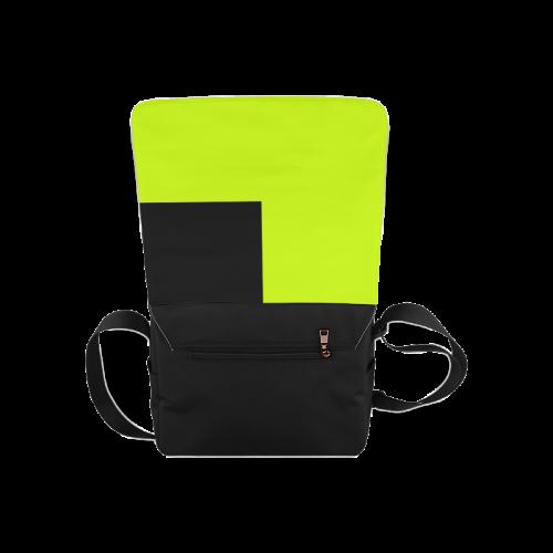 Retro in Green Neon Messenger Bag (Model 1628)
