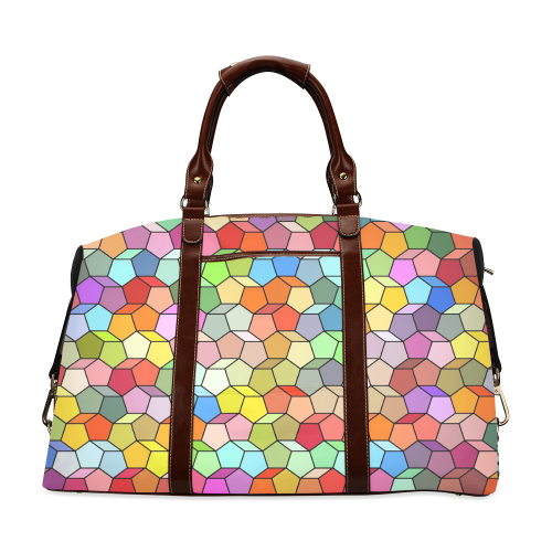 Colorful Polygon Pattern Classic Travel Bag (Model 1643)