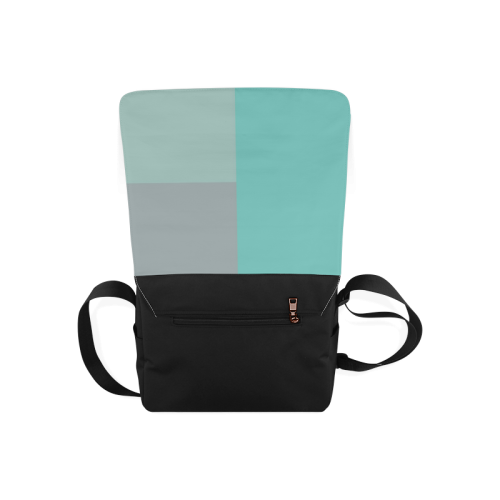 Grey with Teal Accents Messenger Bag (Model 1628)
