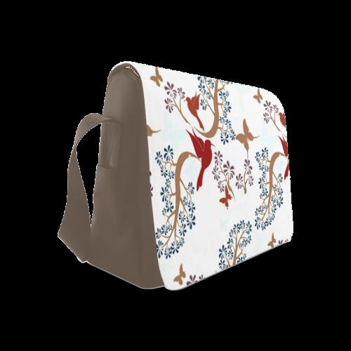 Elegant Birds Messenger Bag (Model 1628)
