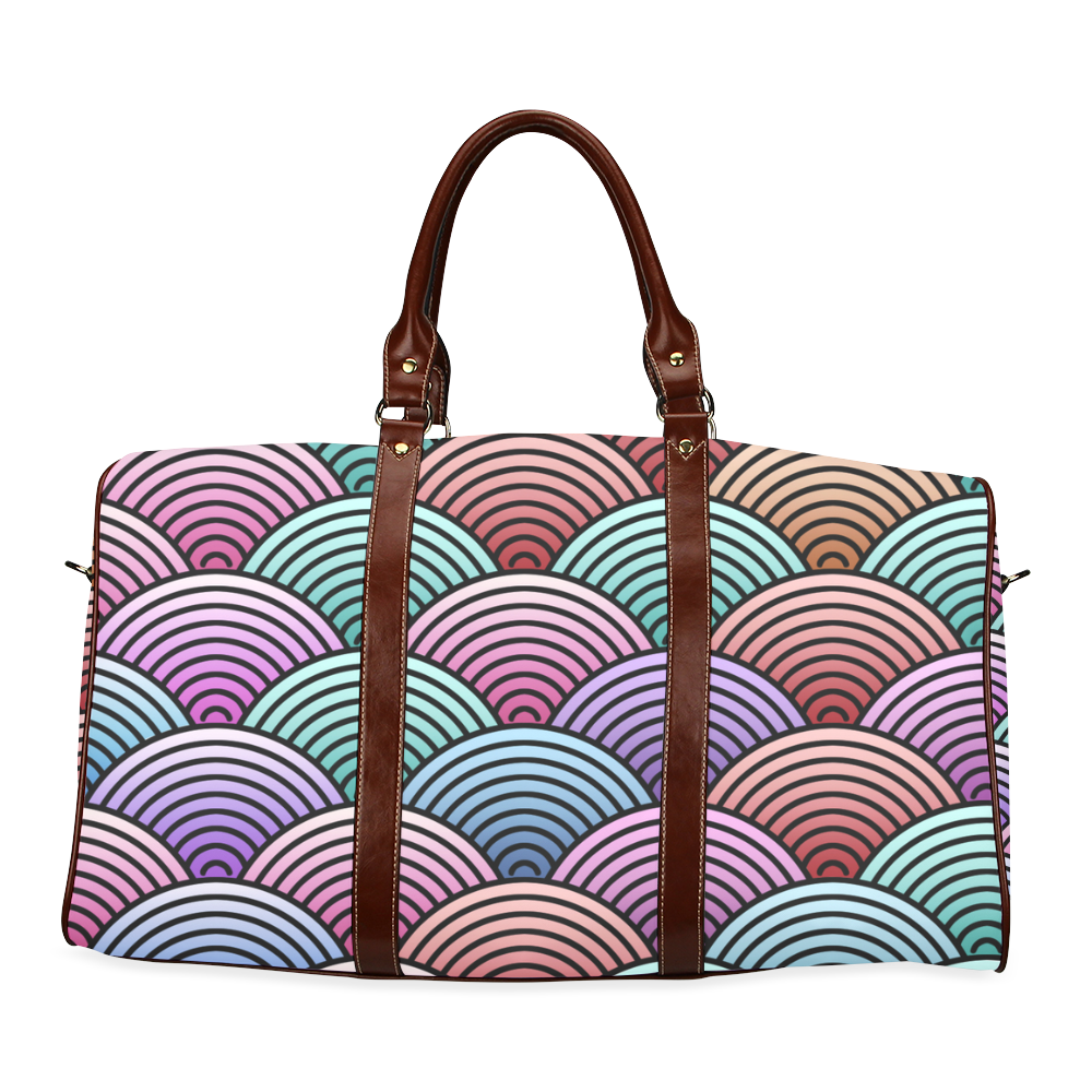 Concentric Circle Pattern Waterproof Travel Bag/Small (Model 1639)