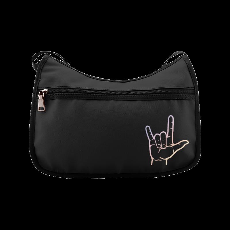 Pastel ASL I Love You Crossbody Bags (Model 1616)