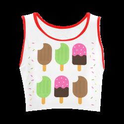 Summertime Treats Women's Crop Top (Model T42)