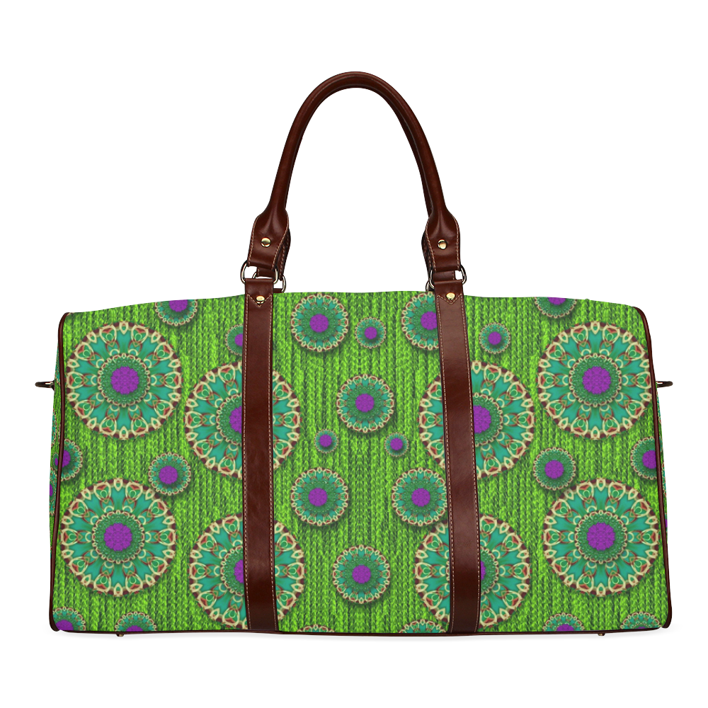 landscape and scenery in the peacock forest Waterproof Travel Bag/Large (Model 1639)
