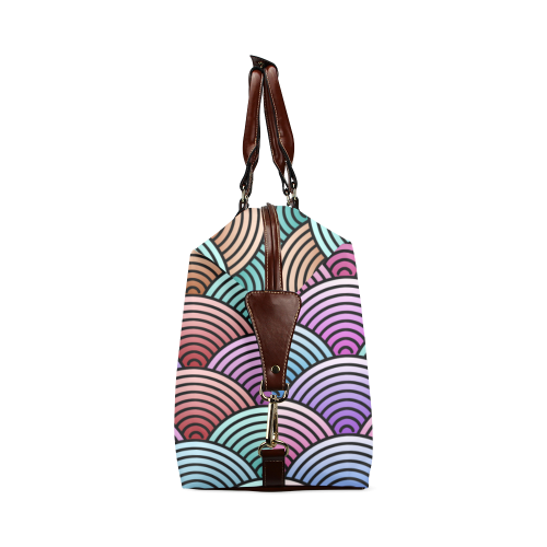 Concentric Circle Pattern Classic Travel Bag (Model 1643)