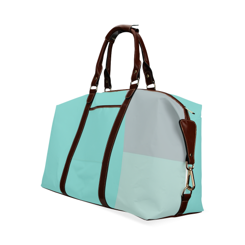 Grey with Teal Accents Classic Travel Bag (Model 1643)