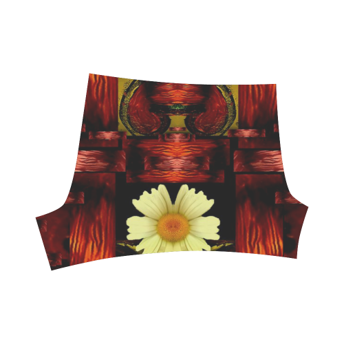 Love and flowers in the colors of love popart Briseis Skinny Shorts (Model L04)