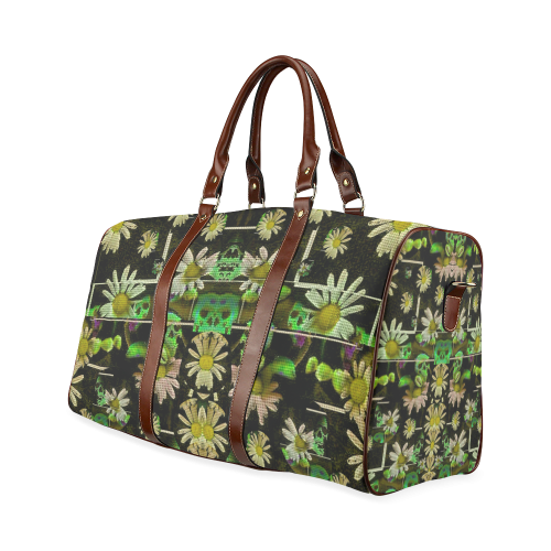 Skull in the fantasy forest popart Waterproof Travel Bag/Large (Model 1639)
