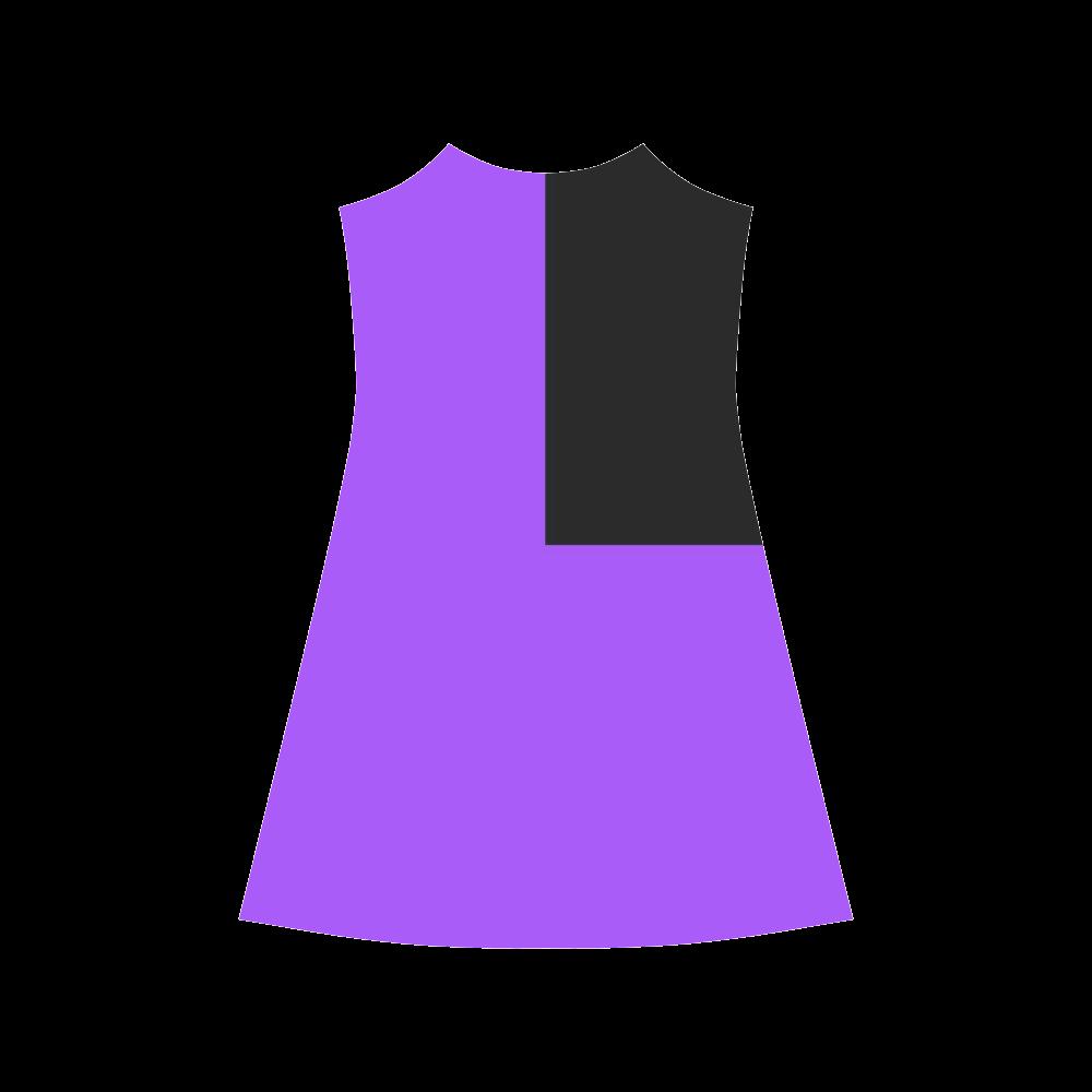 Retro in Purple Neon Alcestis Slip Dress (Model D05)