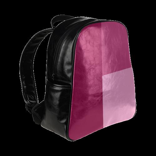 Dusty Rose Multi-Pockets Backpack (Model 1636)