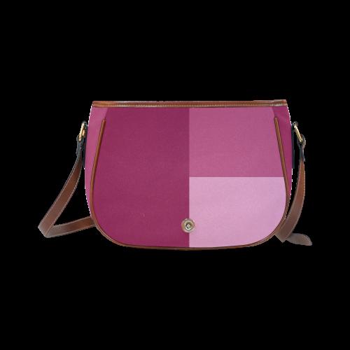 Dusty Rose Saddle Bag/Large (Model 1649)