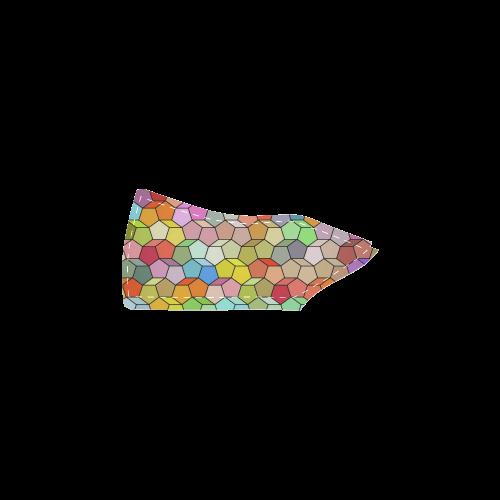 polygon pattern Women's Slip-on Canvas Shoes (Model 019)