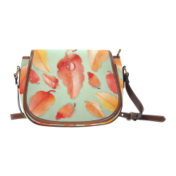 Leaves Saddle Bag/Small (Model 1649) Full Customization
