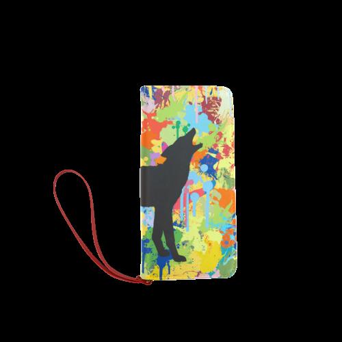 Free Wolf Colorful Splash Complete Women's Clutch Wallet (Model 1637)