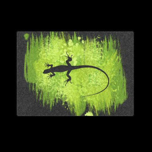 "Green Lizard Shape Painting Blanket 58""x80"""