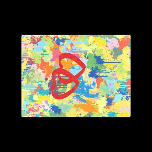 "Love Hearts Colorful Splash Design Blanket 50""x60"""