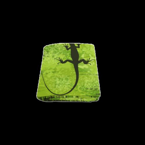 "Green Lizard Shape Painting Blanket 40""x50"""