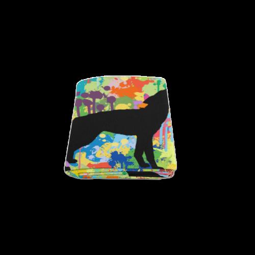 "Free Wolf Colorful Splash Blanket 40""x50"""